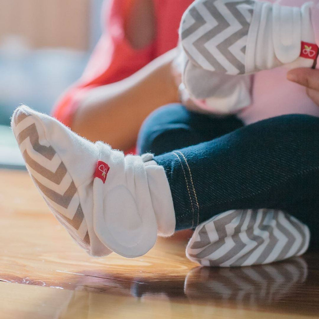 Baby Shoes & Booties - Goumikids Boots - Pinwheel Grey