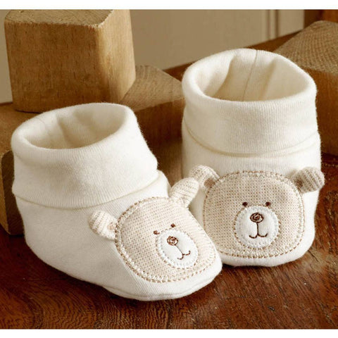 Natures Purest Bootees - Hug Me Bear - Baby Shoes & Booties - Natural Baby Shower