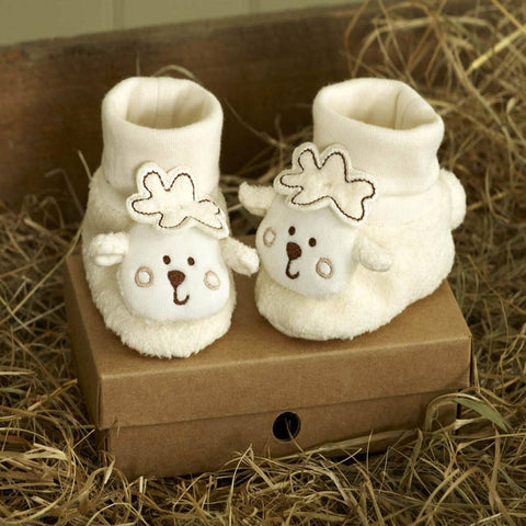 Natures Purest Bootees - Sleepy Sheepy - Baby Shoes & Booties - Natural Baby Shower