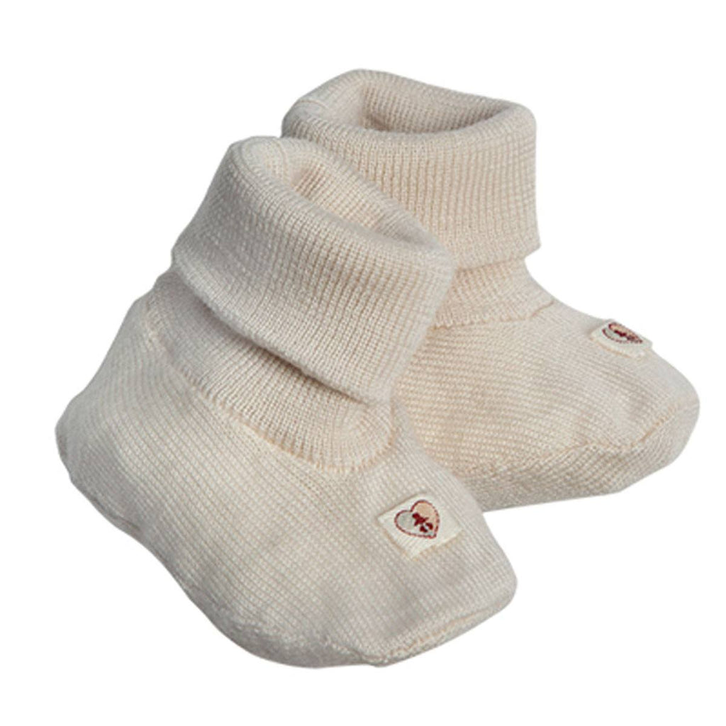 Baby Shoes & Booties - Nurtured By Nature Booties - Pure Merino - Cream