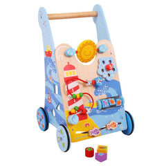 Baby Walkers - BigJigs Wooden Activity Baby Walker - Marine