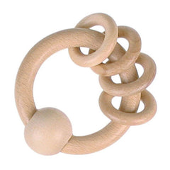 Heimess Wooden Touch Ring - 4 Natural Rings