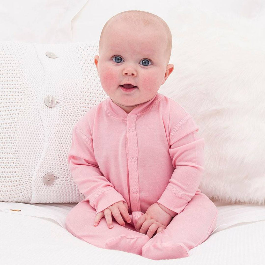 Bambino Merino Sleepsuit - Petal - Babygrows & Sleepsuits - Natural Baby Shower