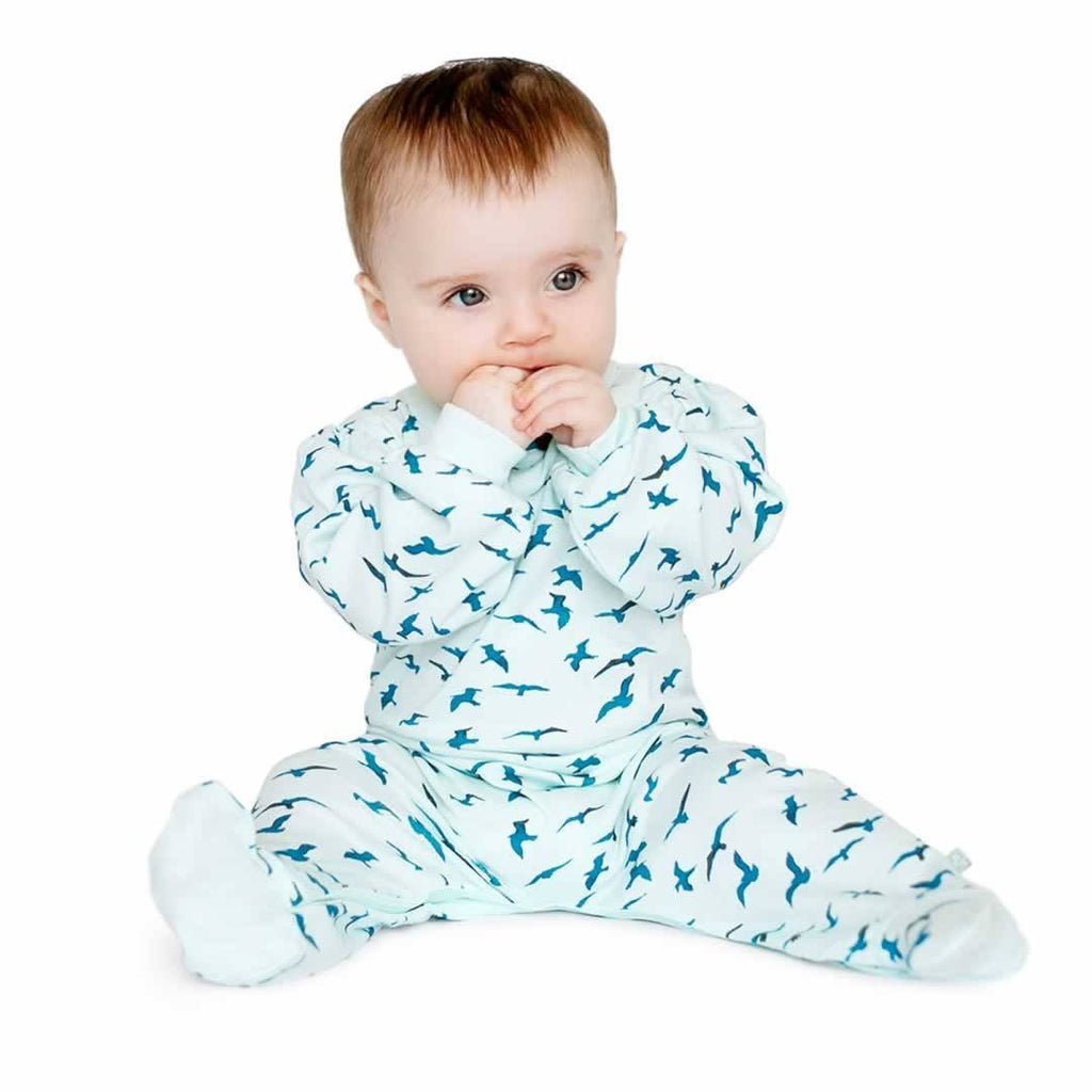 Babygrows & Sleepsuits - Finn + Emma Footie - Bird