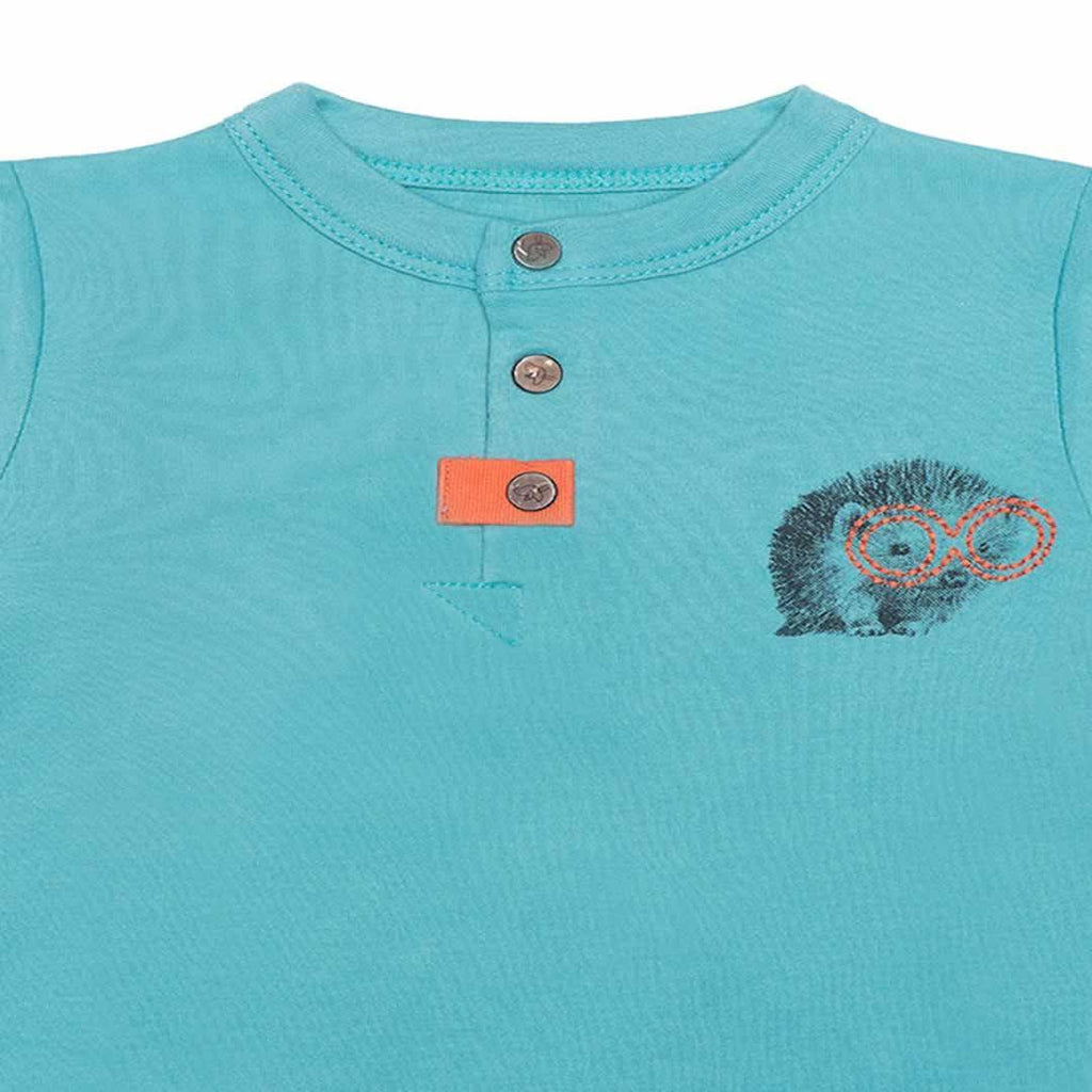 Babygrows & Sleepsuits - Finn + Emma Footie - Dusty Turquoise