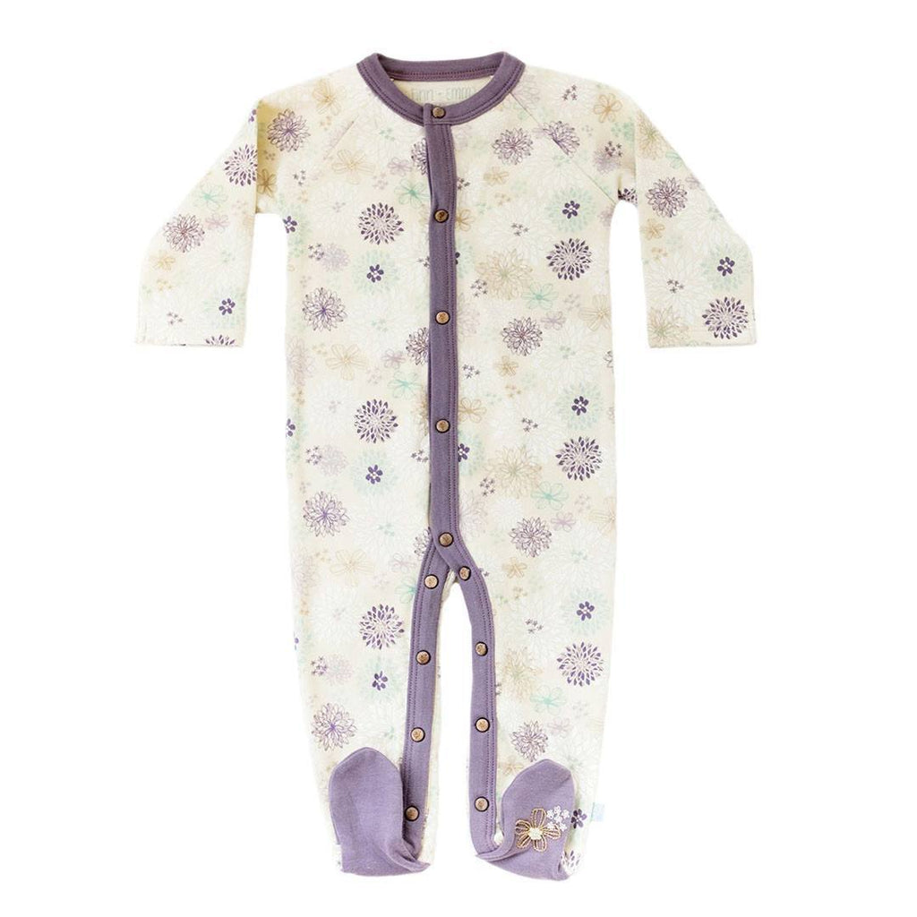 Babygrows & Sleepsuits - Finn + Emma Footie - Flowers
