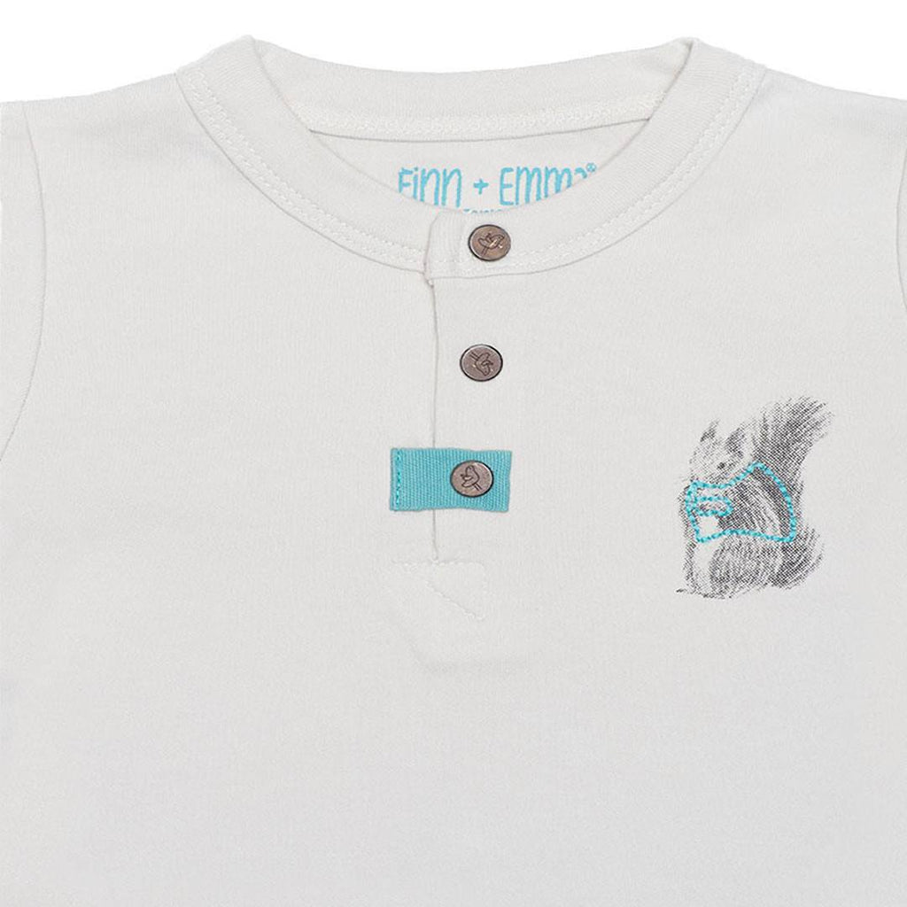 Babygrows & Sleepsuits - Finn + Emma Footie - Moonbeam
