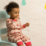 Babygrows & Sleepsuits - Little Green Radicals Babygrow -  Pink Flowers
