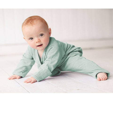 Merino Kids Essentials All-in-One - Mint - Babygrows & Sleepsuits - Natural Baby Shower