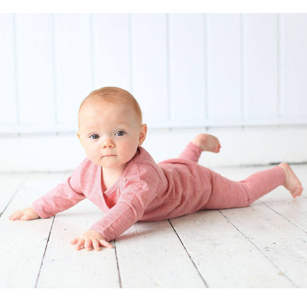 Babygrows & Sleepsuits - Merino Kids Essentials All-in-One - Raspberry