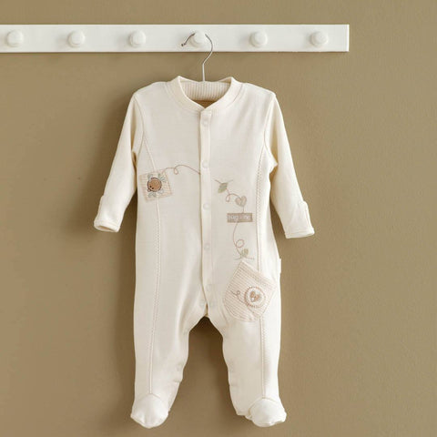 Natures Purest Sleepsuit - Hug Me Bear - Babygrows & Sleepsuits - Natural Baby Shower