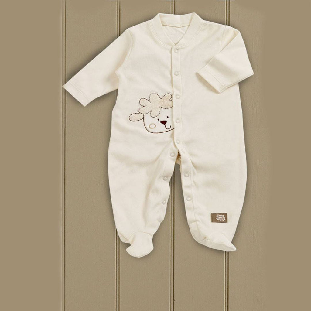 Natures Purest Sleepsuit - Sleepy Sheepy - Babygrows & Sleepsuits - Natural Baby Shower