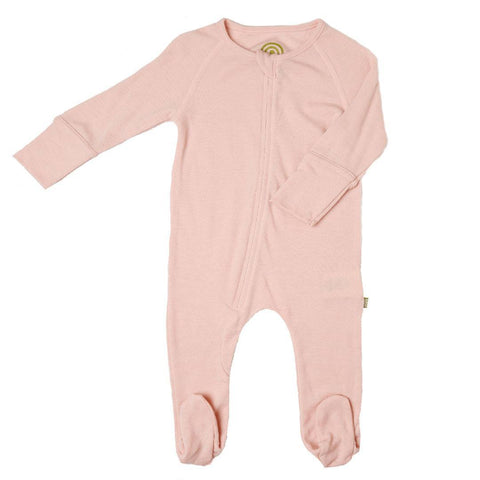 Babygrows & Sleepsuits - Nui Organics Zip Bodysock - Thermals - Pink
