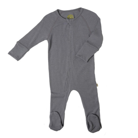 Babygrows & Sleepsuits - Nui Organics Zip Bodysock - Thermals - Storm