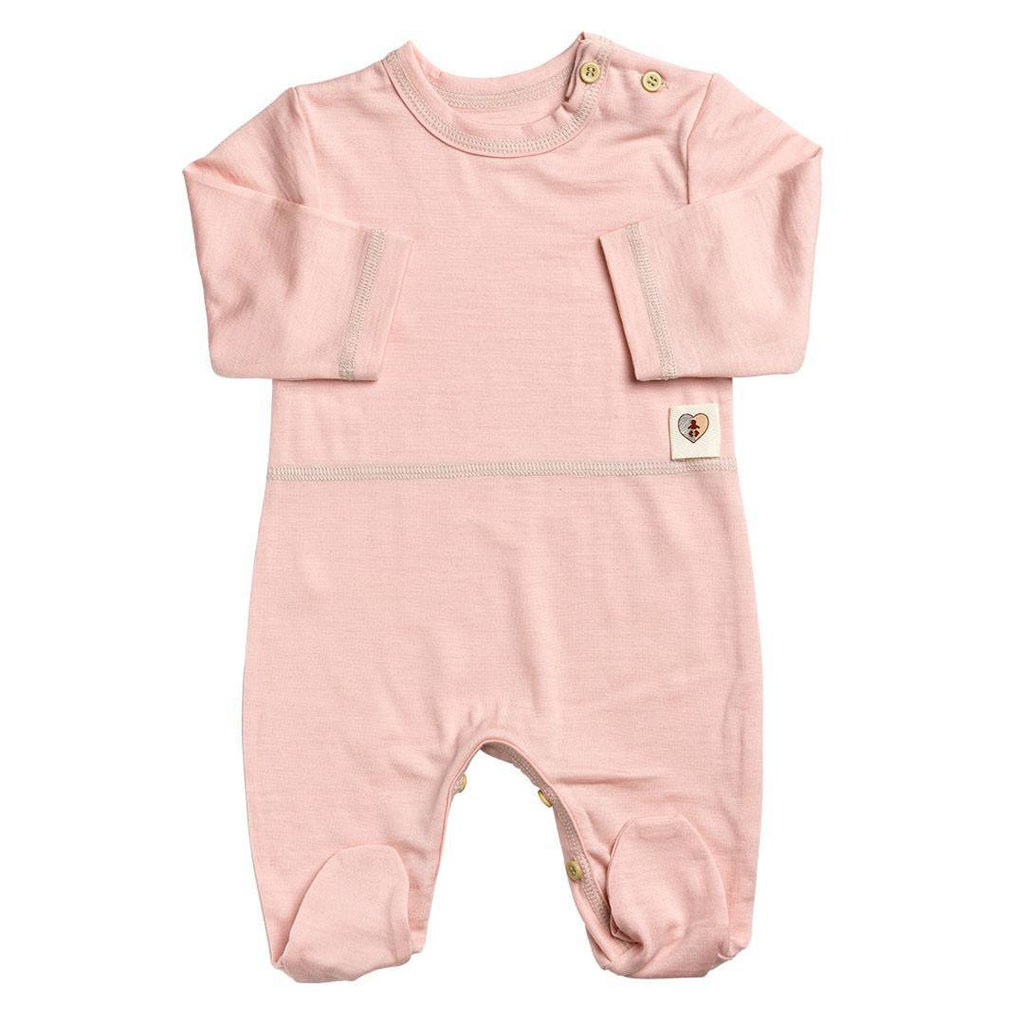 Babygrows & Sleepsuits - Nurtured By Nature Snugglesuit - Hush Merino - Coral