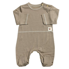 Babygrows & Sleepsuits - Nurtured By Nature Snugglesuit - Hush Merino - Kelp