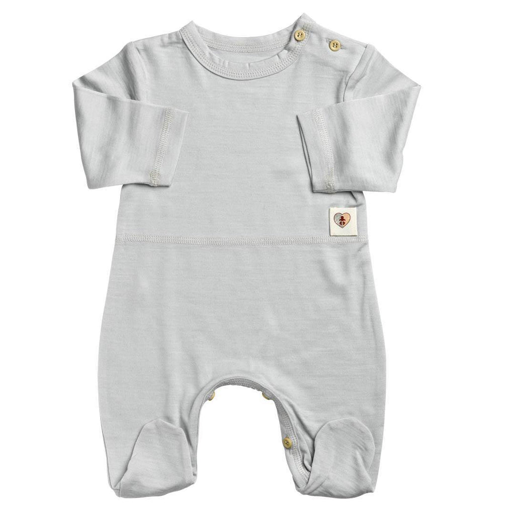 Babygrows & Sleepsuits - Nurtured By Nature Snugglesuit - Hush Merino - Pumice