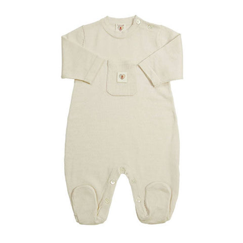 Babygrows & Sleepsuits - Nurtured By Nature Snugglesuit - Pure Merino - Buttercream