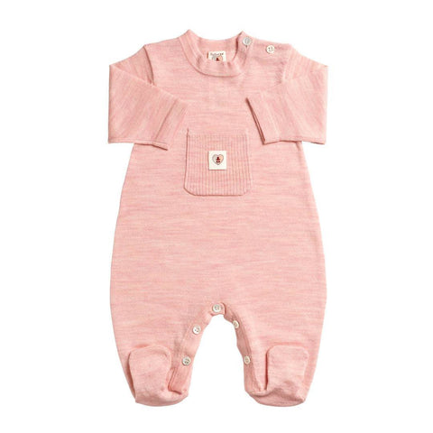 Babygrows & Sleepsuits - Nurtured By Nature Snugglesuit - Pure Merino - Candytuft