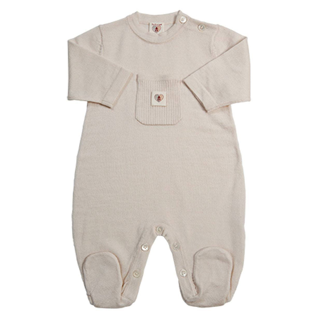 Babygrows & Sleepsuits - Nurtured By Nature Snugglesuit - Pure Merino - Cream