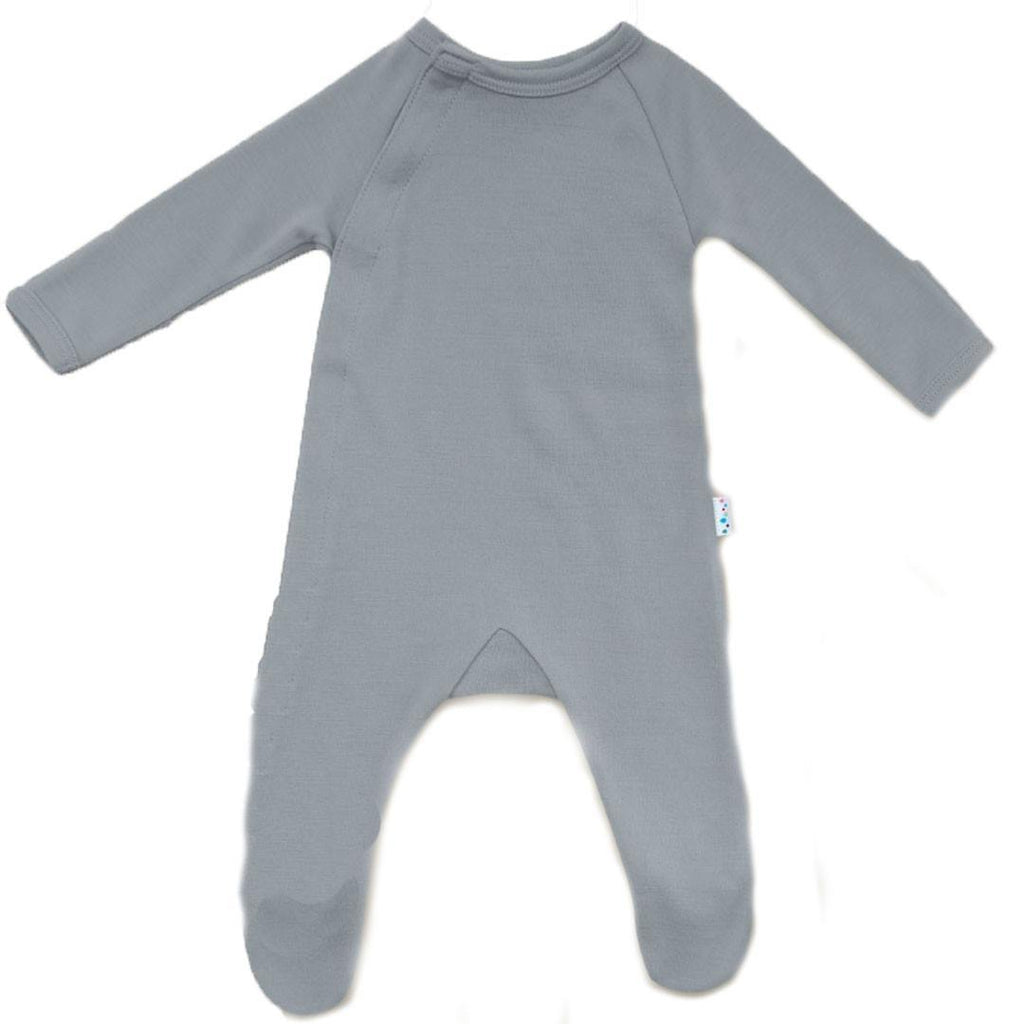 Babygrows & Sleepsuits - Superlove Merino Babygrow - Dove Grey