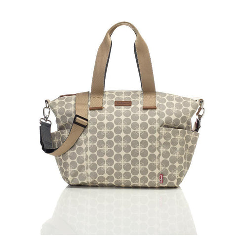 Babymel Changing Bag - Evie - Grey Floral Dot