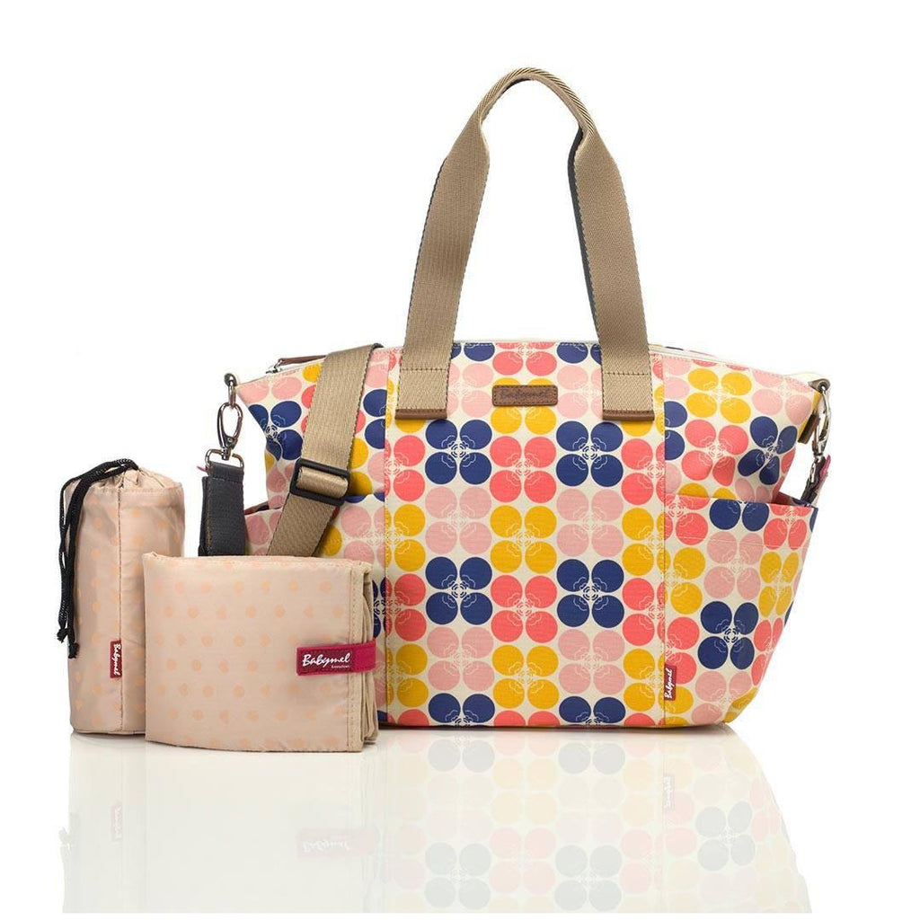 Babymel Changing Bag - Evie - Fruity Floral Dot-Changing Bags- Natural Baby Shower