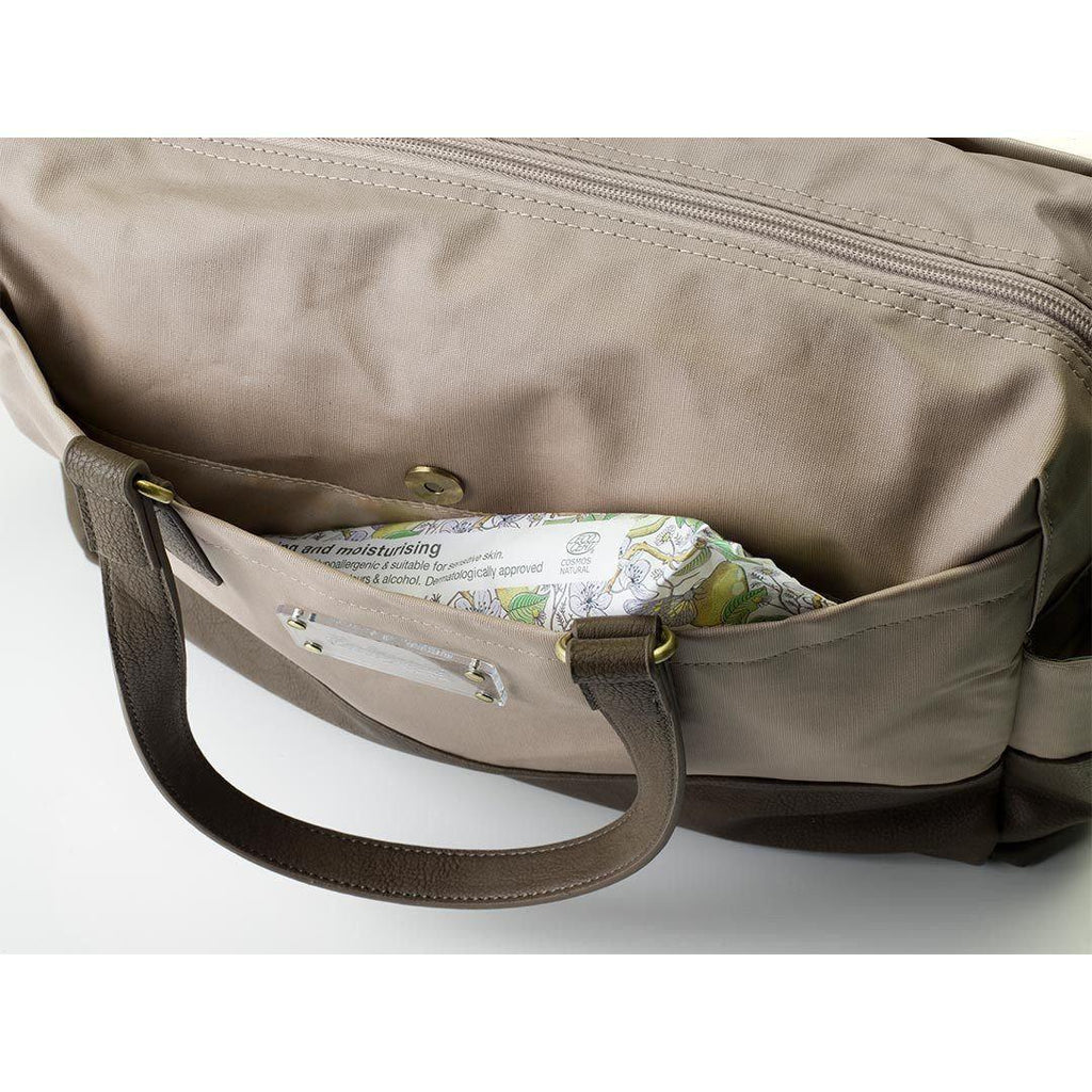 Babymel Changing Bag Millie Fawn Pocket Detail
