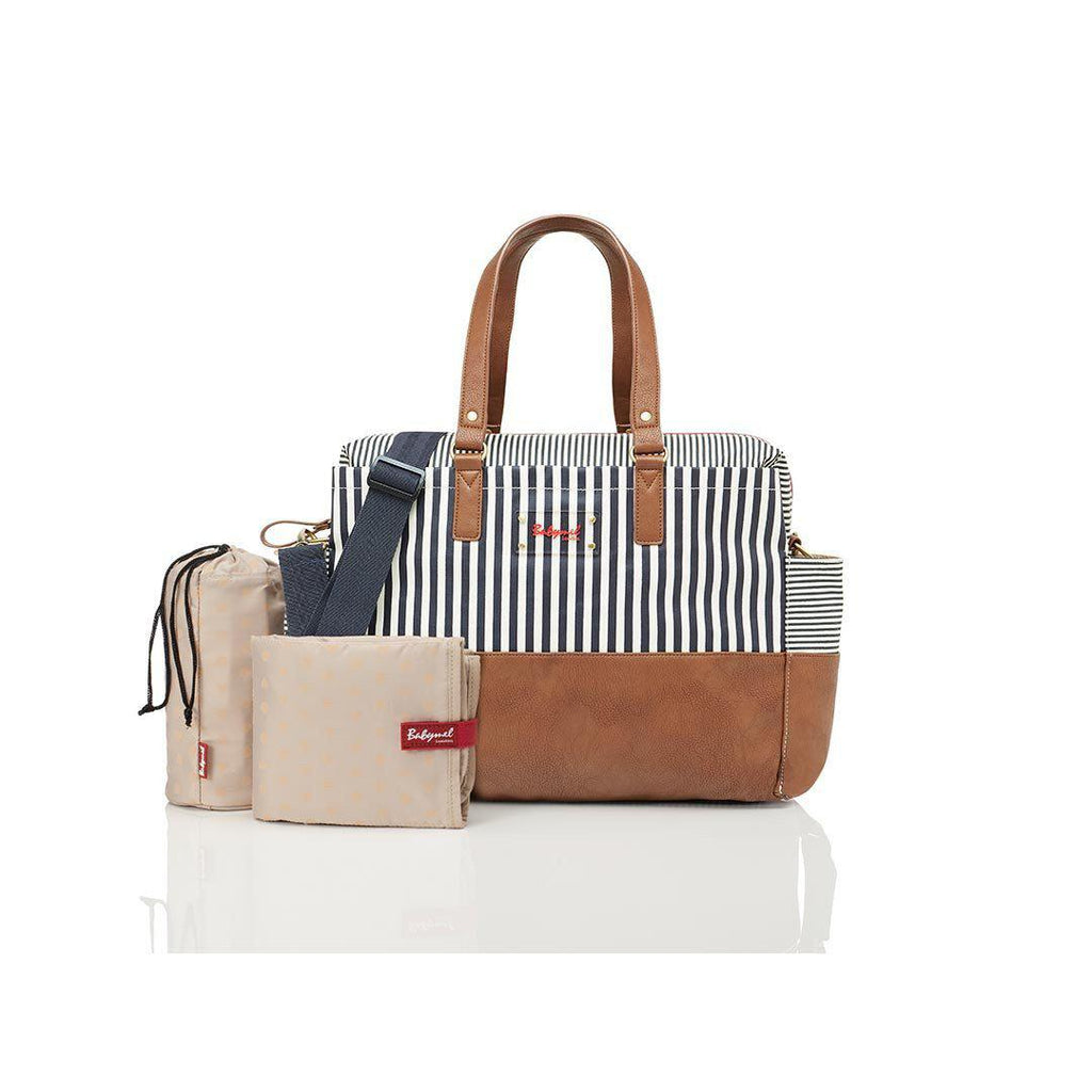 Babymel Changing Bag Millie Navy Stripe All Products