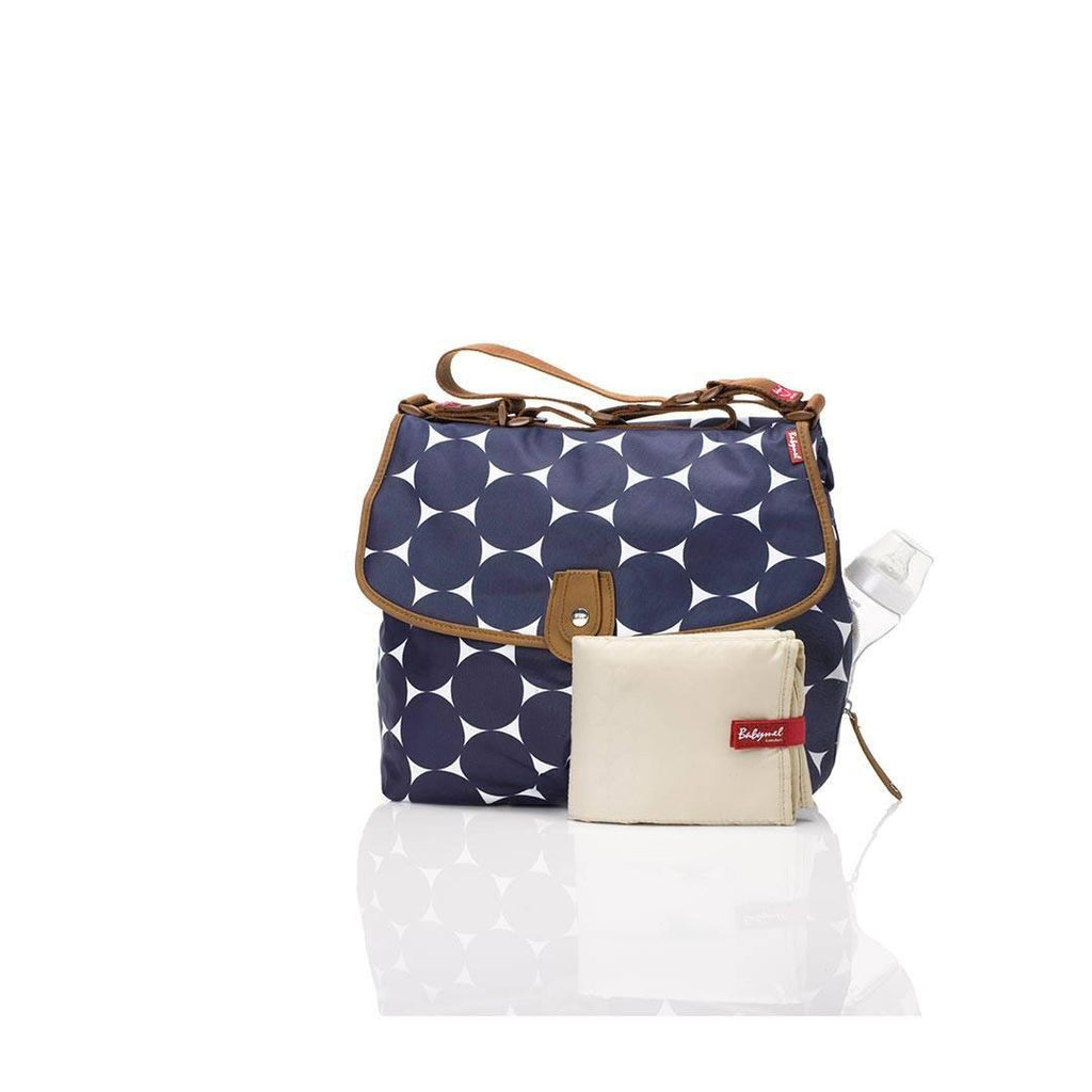 Babymel Changing Bag - Satchel - Jumbo Dot Navy All