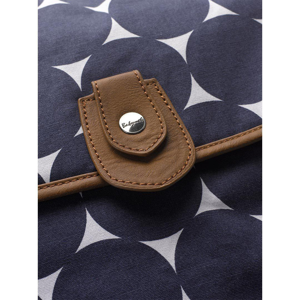 Babymel Changing Bag - Satchel - Jumbo Dot Navy Detail