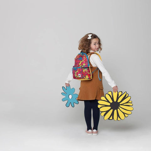 Babymel Kid's Backpack - Zip & Zoe - Floral Brights Lifestyle