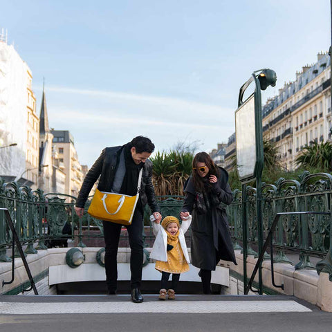 babymoov Champs-Elysees Changing Bag - Saffron-Changing Bags- Natural Baby Shower