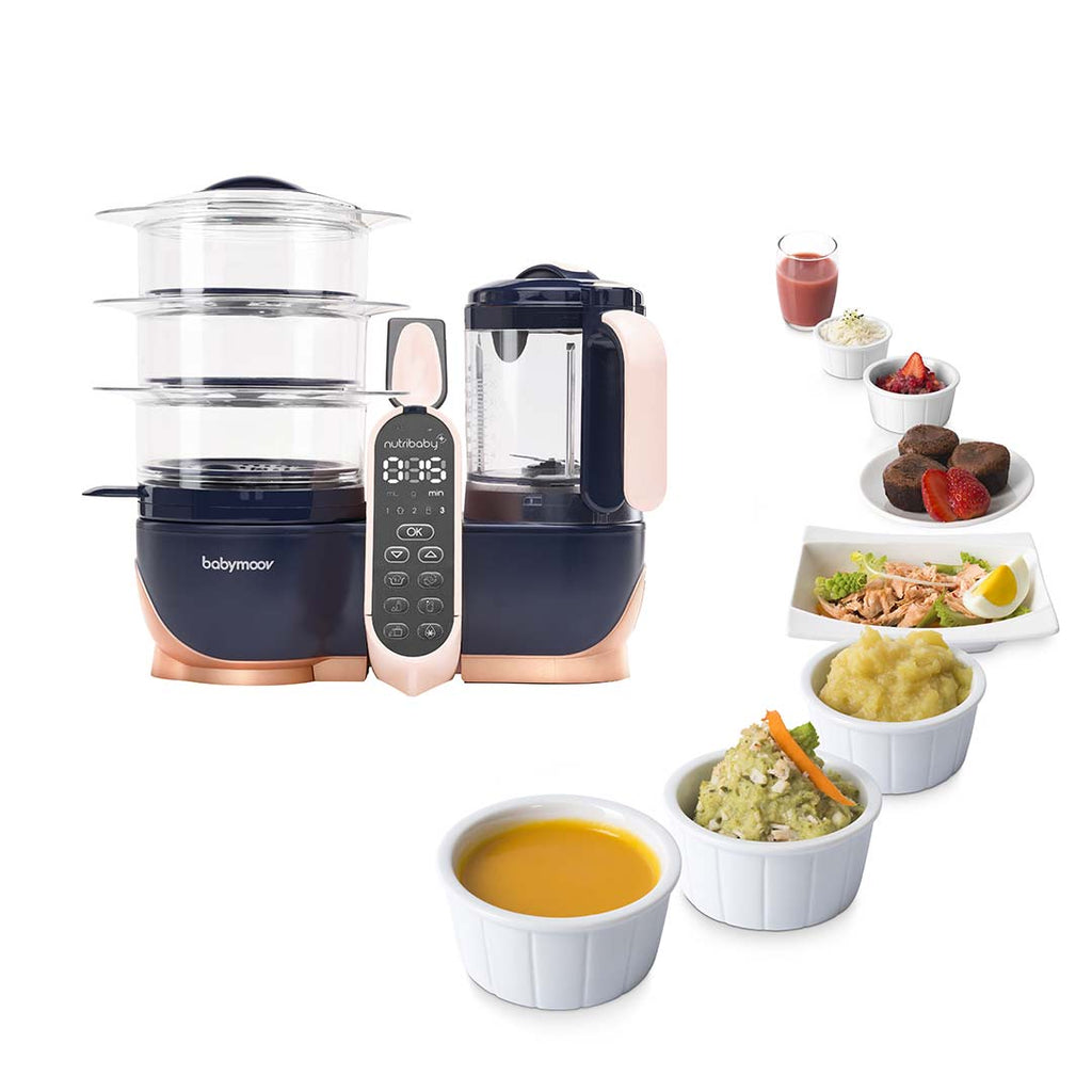 babymoov Nutribaby(+) XL - Navy & Rose Gold-Food Processors-Default- Natural Baby Shower