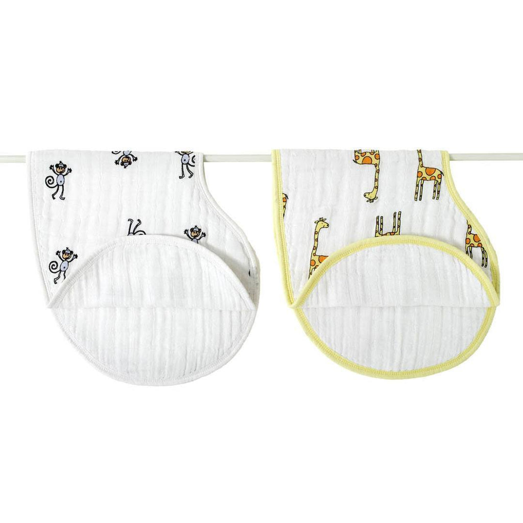Bibs - Aden & Anais Burpy Bibs - Jungle Jam - 2 Pack