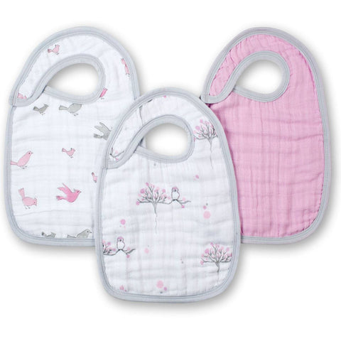 aden + anais Snap Bibs - For the Birds - 3 Pack - Bibs - Natural Baby Shower