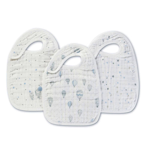 Bibs - Aden & Anais Snap Bibs - Night Sky - 3 Pack