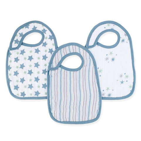 aden + anais Snap Bibs - Prince Charming - 3 Pack - Bibs - Natural Baby Shower