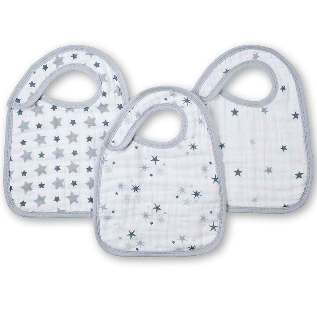 aden + anais Snap Bibs - Twinkle - 3 Pack - Bibs - Natural Baby Shower