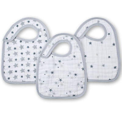 aden + anais Snap Bibs - Twinkle - 3 Pack-Bibs-Twinkle- Natural Baby Shower