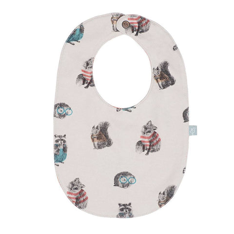 Finn + Emma Reversible Bib - Woodland - Bibs - Natural Baby Shower