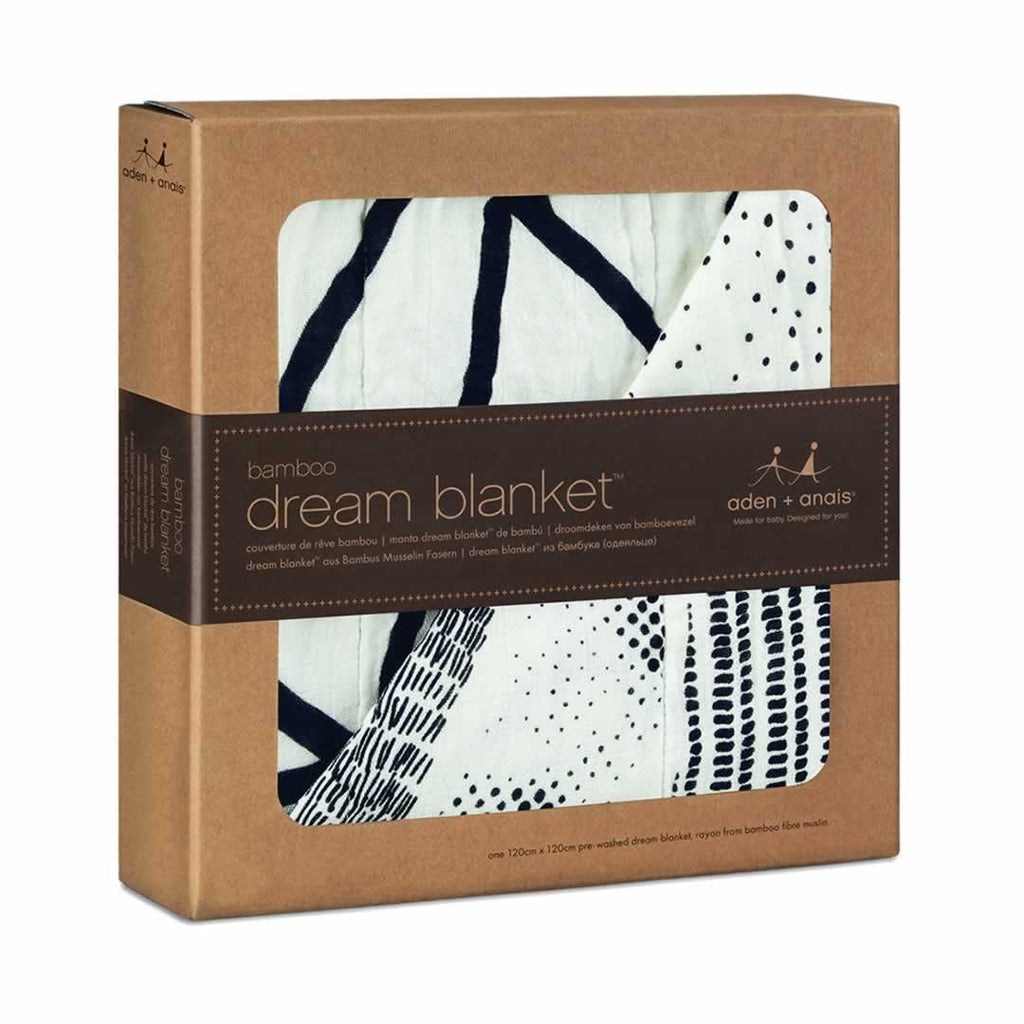aden + anais Bamboo Dream Blanket - Midnight Stylo - Blankets - Natural Baby Shower