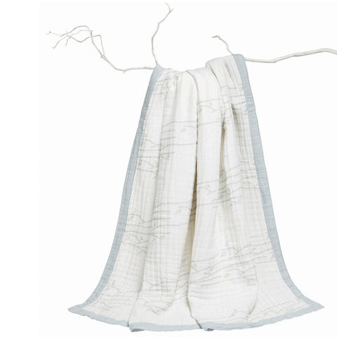 aden + anais Muslin Daydream Blanket - Branch Out - Blankets - Natural Baby Shower