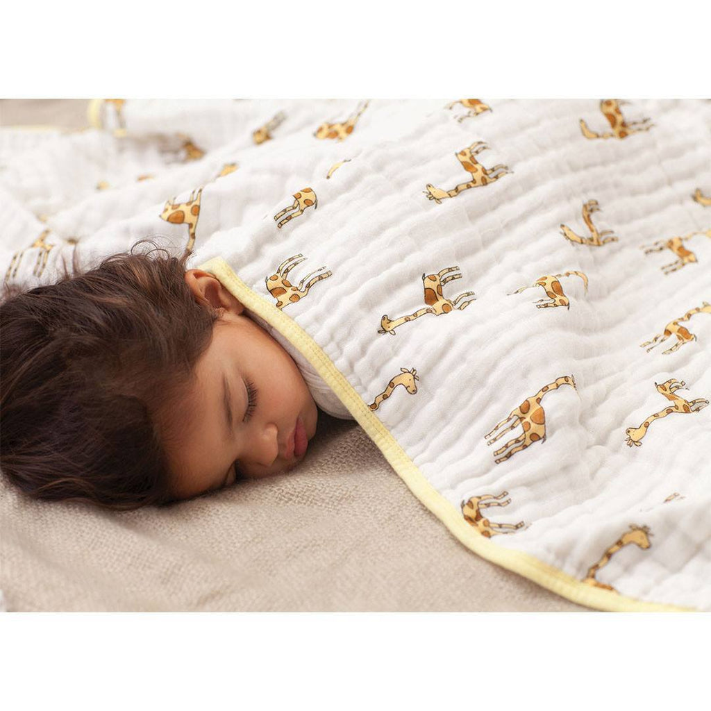 aden + anais Muslin Dream Blanket - Jungle Jam Giraffe - Blankets - Natural Baby Shower