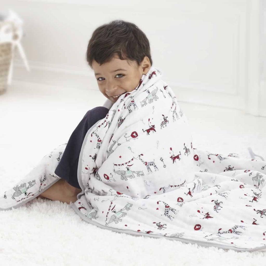 aden + anais Muslin Dream Blanket - Vintage Circus - Blankets - Natural Baby Shower