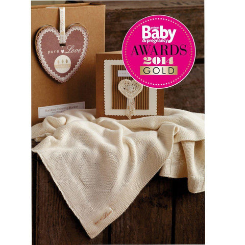 Natures Purest Bamboo Greetings Blanket & Card - Pure Love - Blankets - Natural Baby Shower