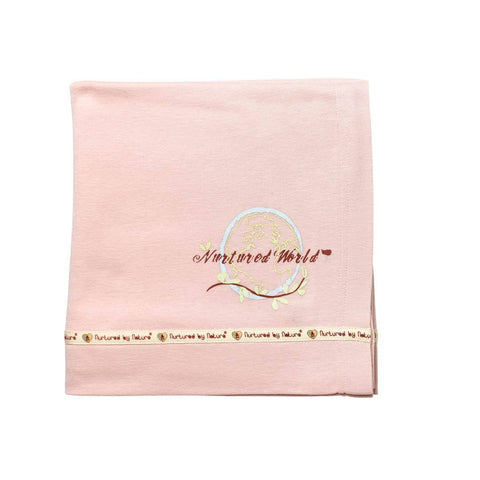Nurtured by Nature Blanket - Kind Organic - Shortcake Pink-Blankets-Default- Natural Baby Shower