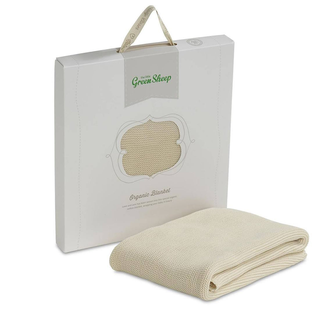 Blankets - The Little Green Sheep - Organic Cellular Baby Blanket 73x73cm - Natural