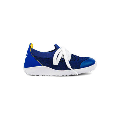 Bobux I-Walk Play Knit Trainers - Blueberry + Yellow-Shoes- Natural Baby Shower
