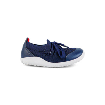 Bobux I-Walk Play Knit Trainers - Navy + Red-Shoes- Natural Baby Shower